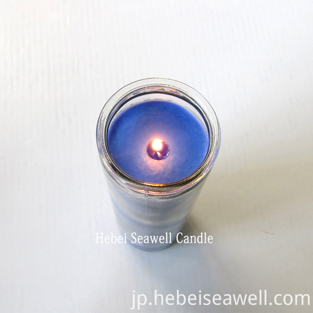 7 days paraffin wax candle for lighting